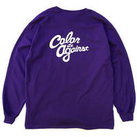 Color at Against ORIGINALS / C&C Long Sleeve TEE / Purple