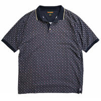 IVY CREW / Patterned Polo Shirt / Navy / Used