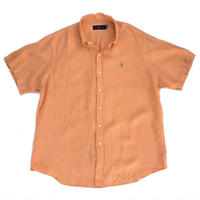 Polo Ralph Lauren / Linen B.D.Shirt / Orange / Used