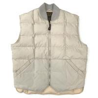 80-90's Eddie Bauer / Goose Down Vest  / Ivory / Used