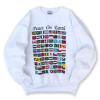 Made in USA / 90's National Flag Sweat / White XL / Used