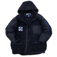 Made in USA / 90s EBTEK by Eddie Bauer / F/Z Fleece Jacket / Black