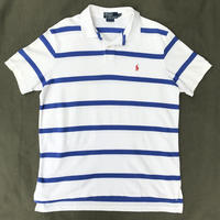 Polo Ralph Lauren / Border Polo Shirt / WHT×BLU / Ued