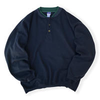 Henley Neck Sweat / Navy XL / Used