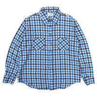 Sears / L/S Check Shirt / Blue × Brown / Used