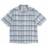 """Silk"" Multi Checked Open Collar Shirt / Used"