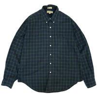 90s L.L.Bean / Cotton B.D Check Shirt / Black Watch / Used