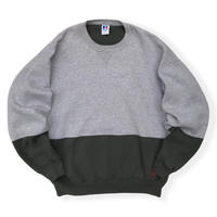 Made in USA / 90's Russell Athletic / Bi Color Sweat / Grey × Charcoal XL / Used