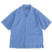 """Cotton & Rayon Blend "" Open Collar Shirt / Light Blue / Used"