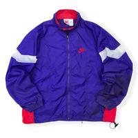 90's Nike /  Crazy Pattern Sport Jacket / Purple XL / Vintage