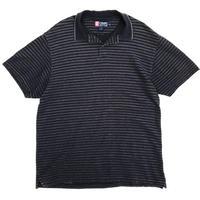 CHAPS / Border Polo Shirt / Navy × Grey / Used