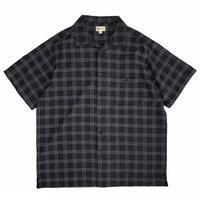 Haggar / Dry Checked Open Collar Shirt / Black / Used