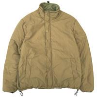 Dead Stock / Italian Military / Reversible Padding Jacket / Beige & Olive