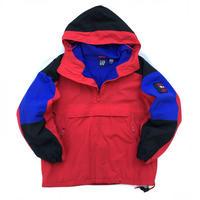 "OLD GAP / ""Alpine SERIES""Nylon Fleece Anorak / Black × Blue × Red / Used"