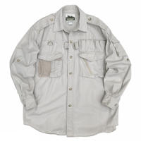NATURALIST / Outdoor Gimmick Shirt / Natural L / Used