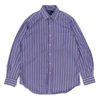 Polo Ralph Lauren / L/S Cotton Striped Shirt / Purple / Used