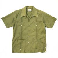 70s S/S Cuba Shirt / Green Tea / Used