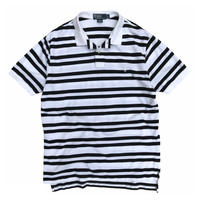 Polo by Ralph Lauren / Border Polo Shirt / White × Black / Used
