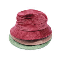 En Plein Air / Made in USA / WIDE WALE CORDUROY BUCKET HAT / SAGE GREEN , MAROON , MUSHROOM