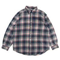 Old GAP / L/S B.D. Check Shirt  / Blue / Used