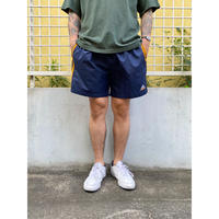 90's adidas / Embroidered Training Shorts / Navy / Used (M)