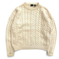 90s Cable Knit / Natural / Used