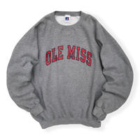 90's Russell Athletic / Collage Logo Sweat / Grey XL / Used