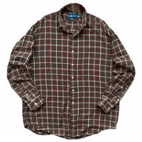 """90's Raph Lauren / Cotton Multi Checked B.D Shirt """"BLAIRE"""" / Used"""