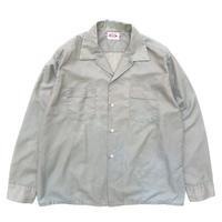 60-70s / Work Shirt / Gray / Used