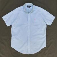 Polo Ralph Lauren / Seersucker B.D. Stripe Shirt / Green Stripe / Used