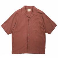 Silk Open Collar Shirt / Renga / Used