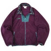 90s Columbia / Full Zip Fleece Jacket / Burgundy  / Used