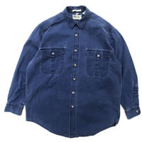 Made in USA / Eddie Bauer / L/S Denim Shirt / Indigo / Used
