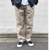 Cotton 2Tuck Slacks  / Beige / Used