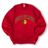 Made in USA / 90's Russell Athletic / College Logo Sweat / Red XL / Used