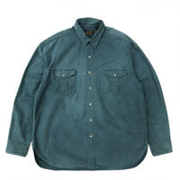 Made in USA / Eddie Bauer / Chamois Cloth Shirt / Green  / Used