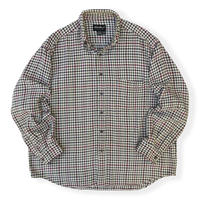 00's Eddie Bauer / Cotton Houndstooth Checked Shirt / Used