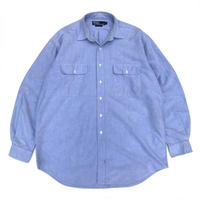 Polo Ralph Lauren / 2 Pocket Cotton Solid Shirt  / Lt Blue / Used