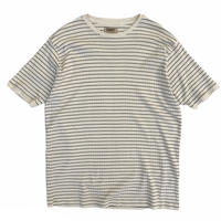 NWT / Cotton Ribbed Border Tee / Natural / Used