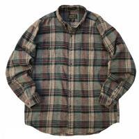 80s Eddie Bauer / Cotton Multi Check Flannel Shirt / Multi Check / Used