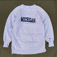 "90s Champion / Reverse Weave Sweat ""MICHIGAN"" / Heather Gray / Used"