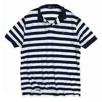 Polo by Ralph Lauren / Border Polo Shirt / White × Navy / Used