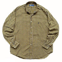 90's Polo Ralph Lauren / Cotton Multi Checked B.D Shirt / Used