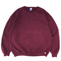 90s Russell Authentic / Solid Sweat / Burgundy / Used
