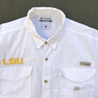 Columbia / S/S B.D. PFG Fishing Shirt  /  White / Used