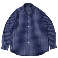 "Polo Ralph Lauren / ""Westerton"" Cotton Check Shirt / Navy / Used"