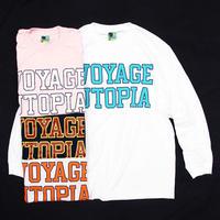 "Voyage / ""COLLEGE"" Long Sleeve Tee / Ash , Navy , Pink , White"