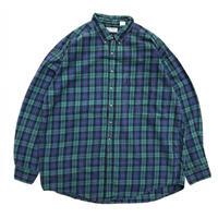 Made in USA / L.L.Bean / L/S B.D.Check Shirt /  Green  / Used