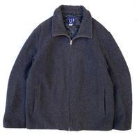 OLD GAP / Full Zip Wool Jacket / Black / Used