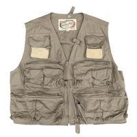 80's Cotton Fishing Vest / Beige / Used